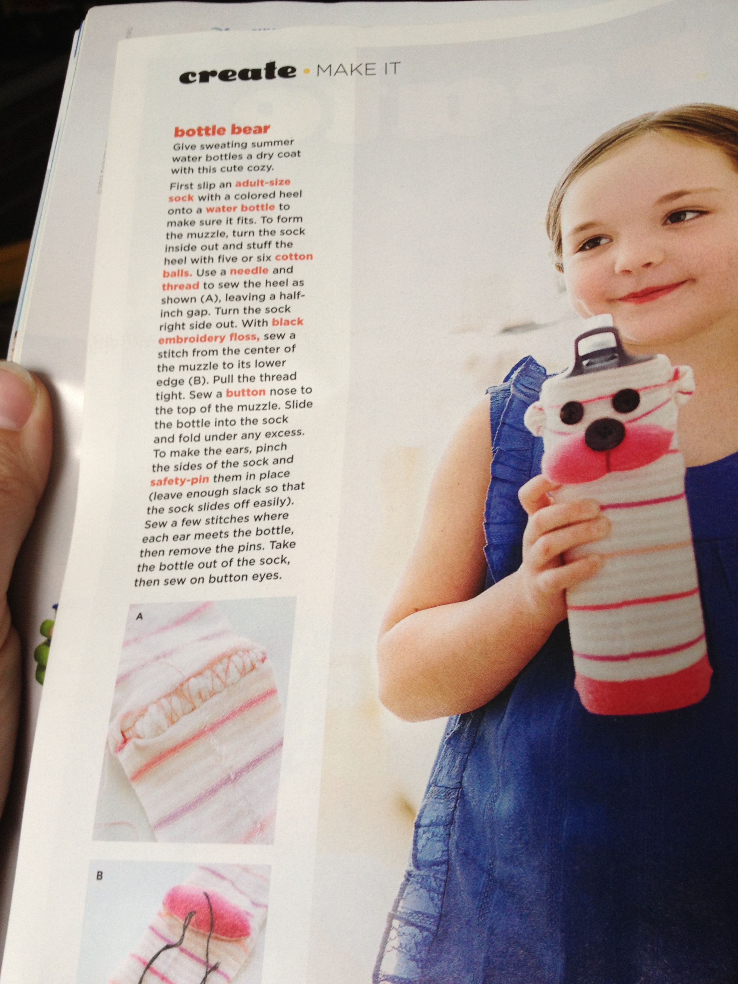 Family Fun mag sock water bottle cover