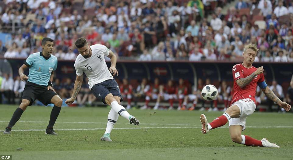 Denmark 0 0 France Both Sides Ease Into Last 16 Of World Cup World Cup Griezmann World