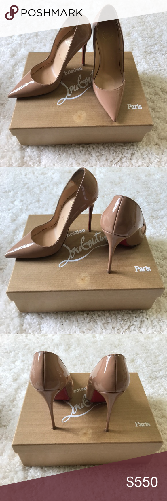 "Authentic Christian Louboutin So Kate nude pumps Authentic So Kate CL pumps. Bottom sole has been resoled. Heel is 4.5"" have been worn multiple times. Does have some minor scuff on side of shoes. Still in very good condition. Comes with box and dust bag. Christian Louboutin Shoes Heels"