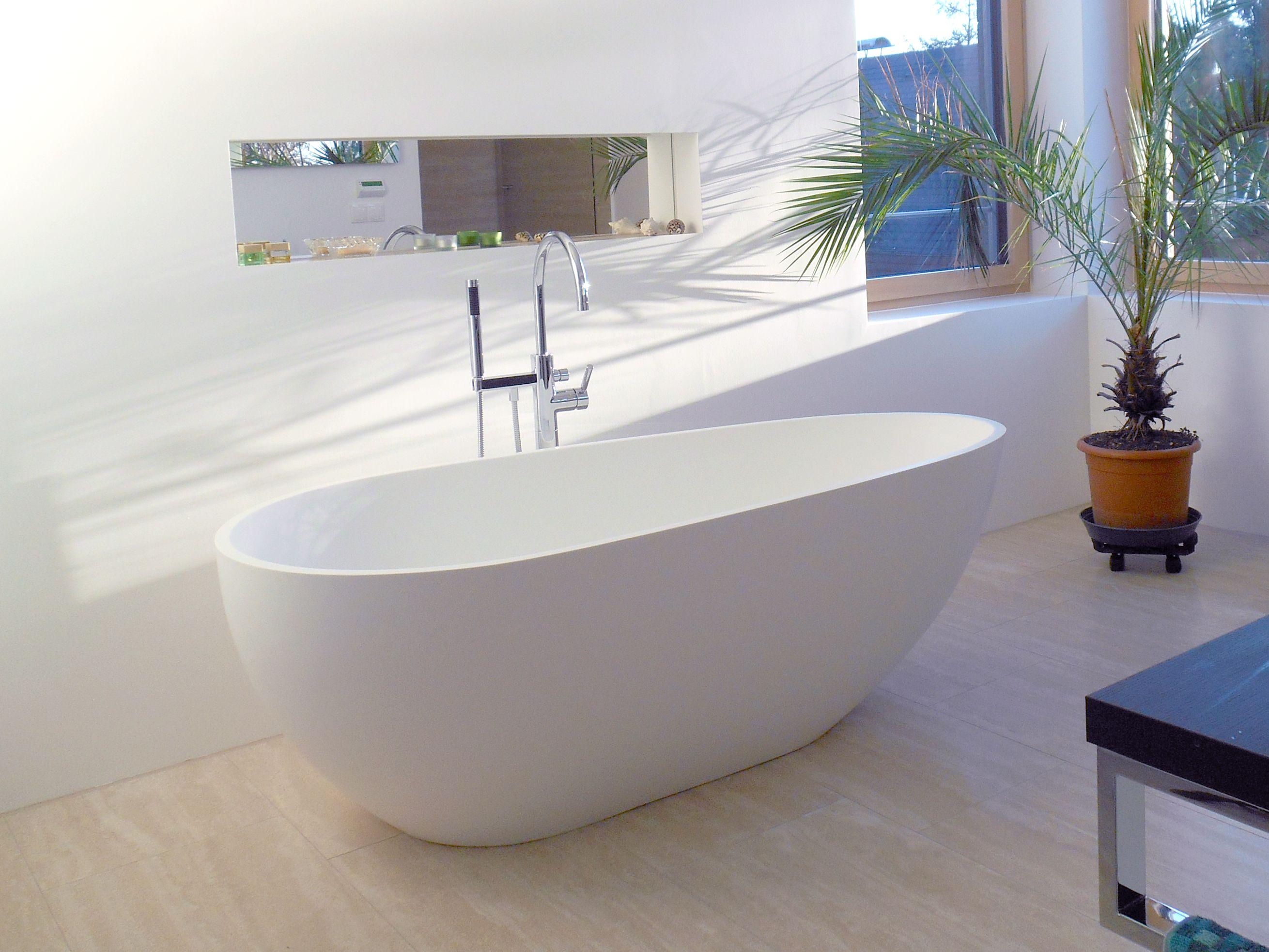 freistehende badewanne bw-01 l mineralguss | referenzbilder, Badezimmer ideen