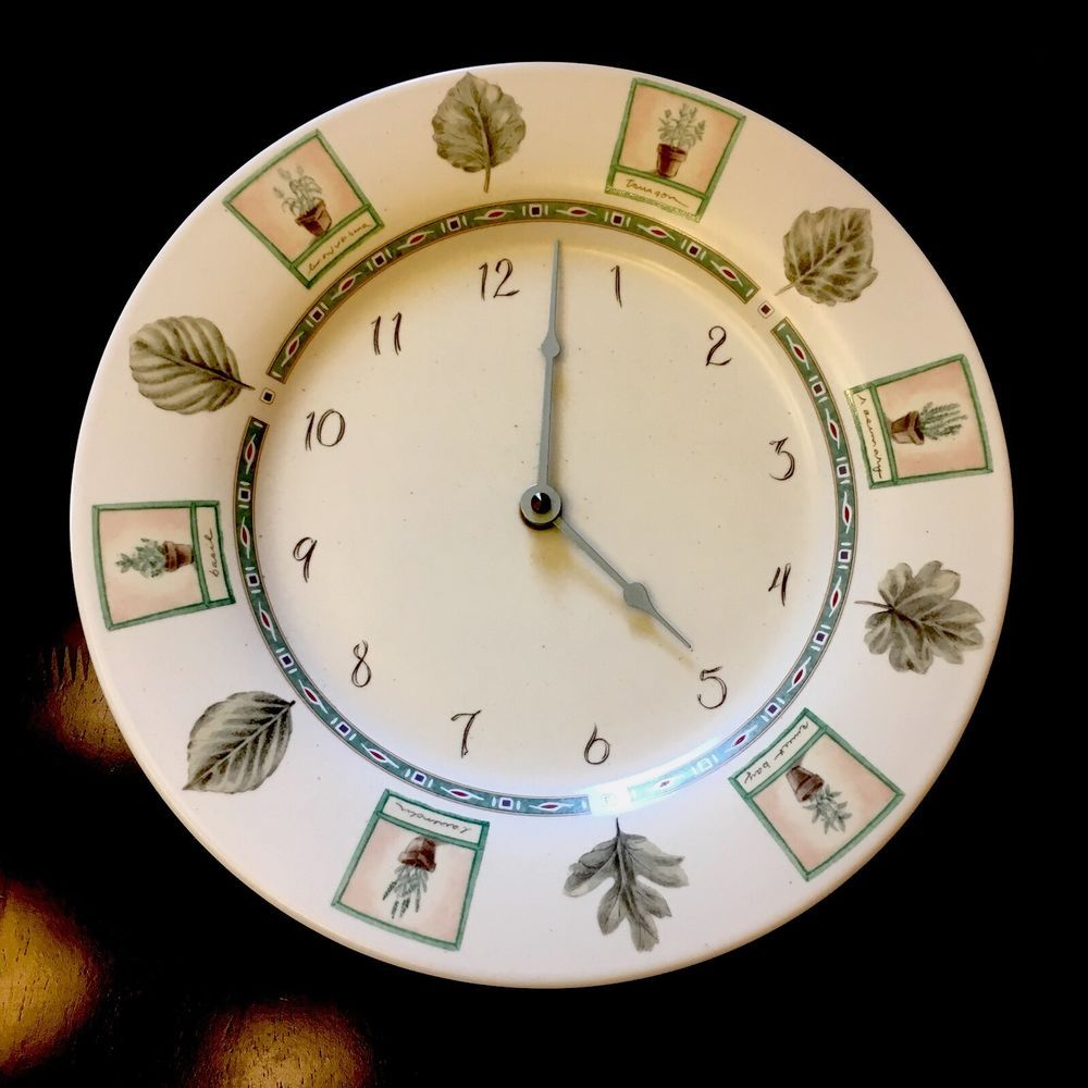 Pfaltzgraff Naturewood Plate Wall Clock Made In Usa How To Make Wall Clock Clock Plates On Wall