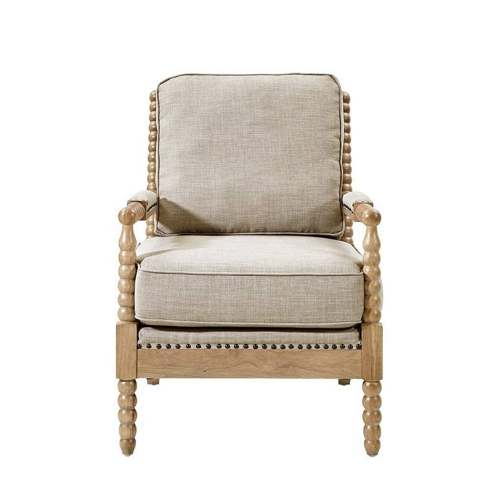 Lyla Accent Chair Beige Rattan Chair Living Room Farmhouse