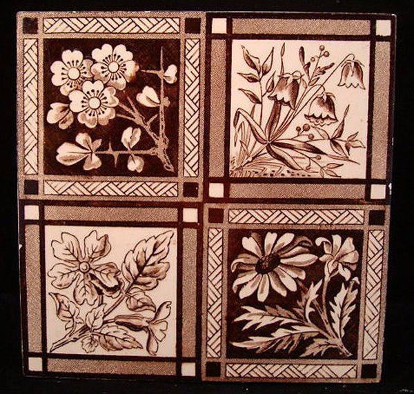 Image Detail for - ... 1885 this large victorian aesthetic 6 x 6 tile is transfer printed