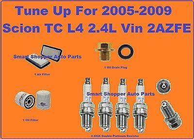 Tune Up Kit 2005 2009 Scion Tc Spark Plug Air Filter Oil Filter Oil Drain Plug 2009 Scion Tc Scion Tc Oil Filter