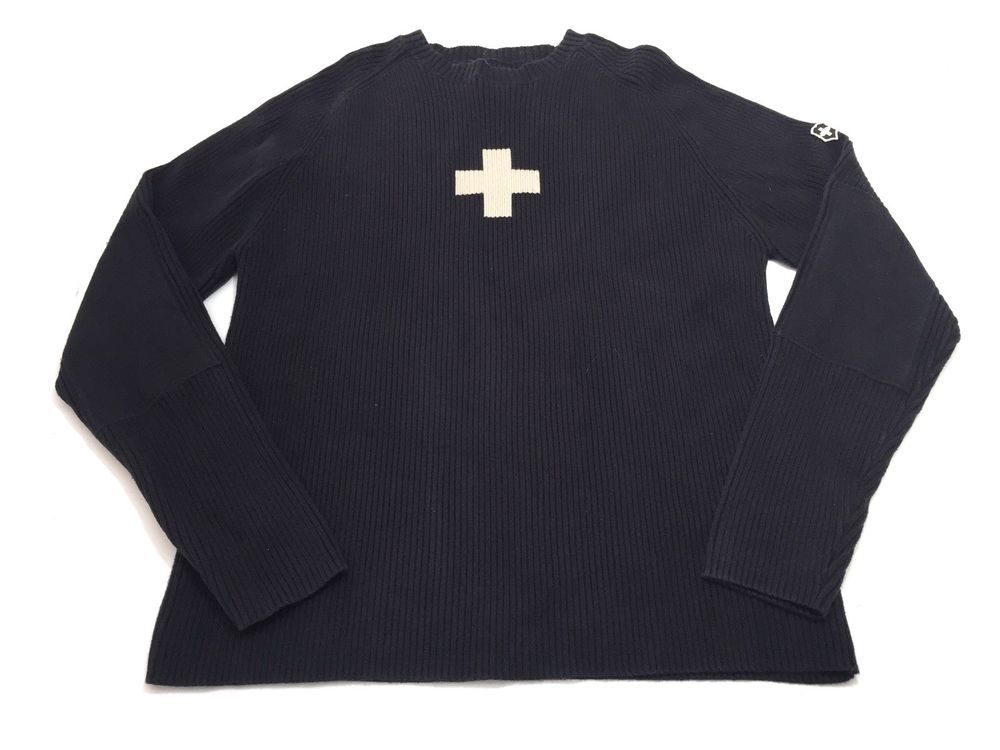 Victorinox XL Navy Blue Swiss Cross Ski Sweater Mens Ski Patrol ...