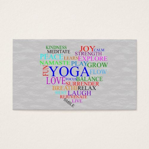 Heart yoga business card for yoga teacher teacher pinterest heart yoga business card for yoga teacher reheart Images