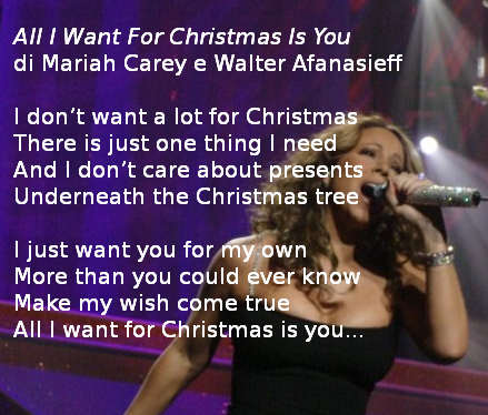 All I Want For Christmas Is You Di Mariah Carey Testo E Video Caffebook Mariah Carey Musica Cantanti