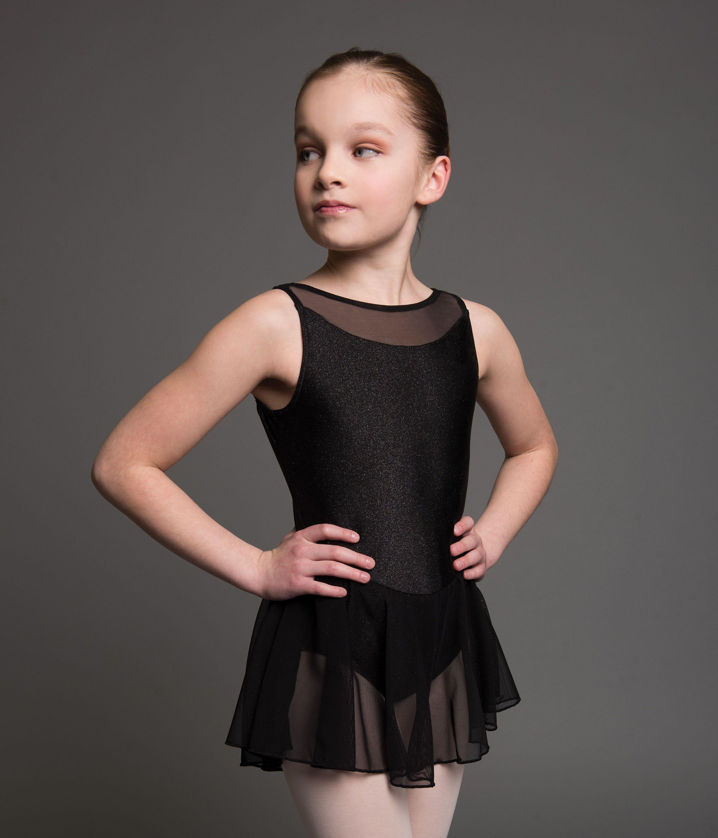 a2ba6df3b Kids Hadley Glitter Velour with Mesh Ballet Dance Leotard with ...