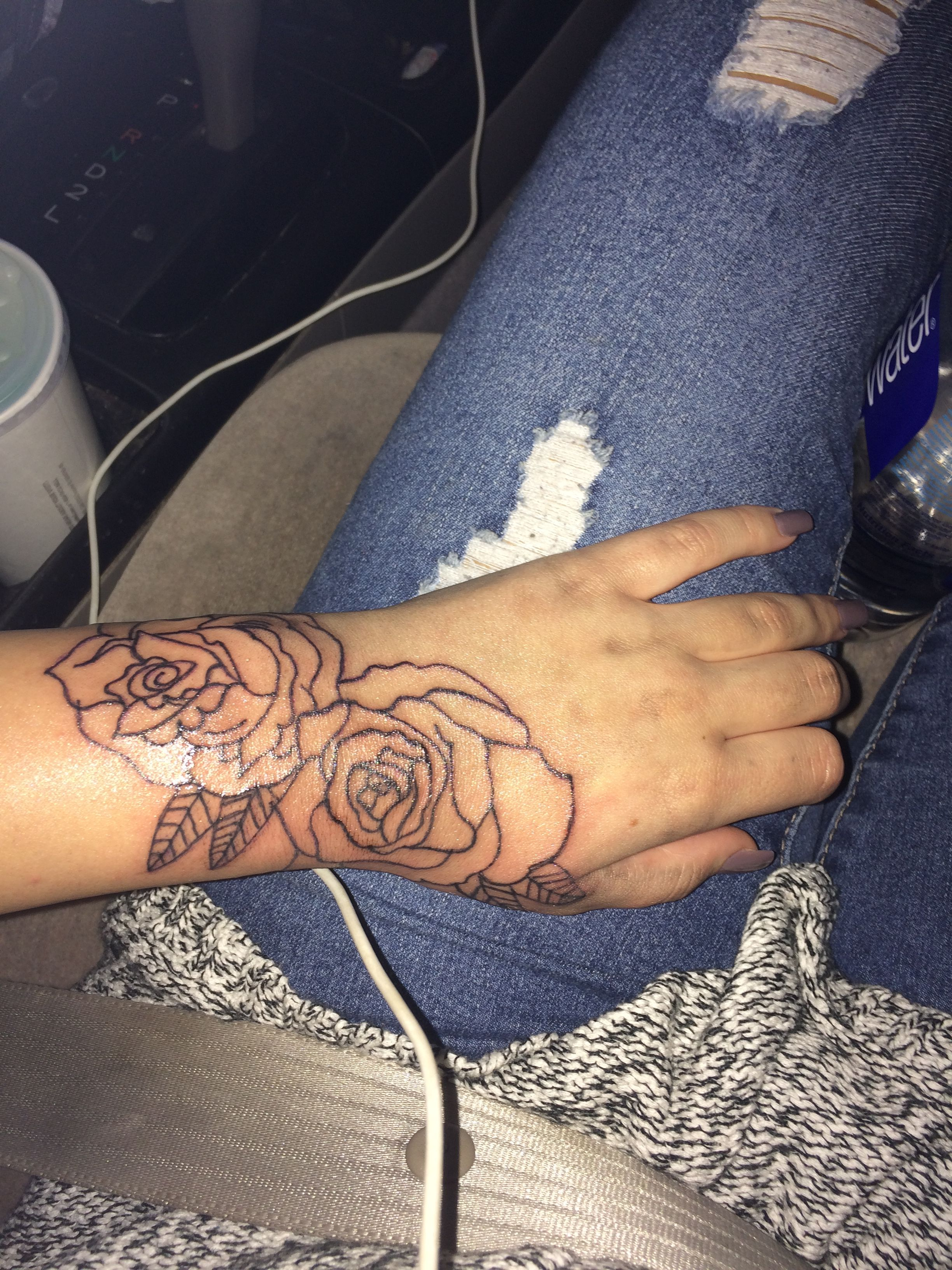 Rose outline tattoo. 💕 Rose outline tattoo, Rose tattoos