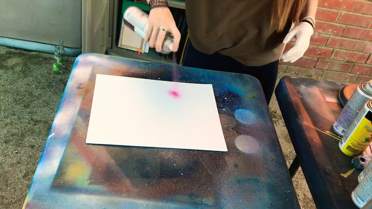 Spray Painting Art Project Youtube Spray Paint Art Art Painting