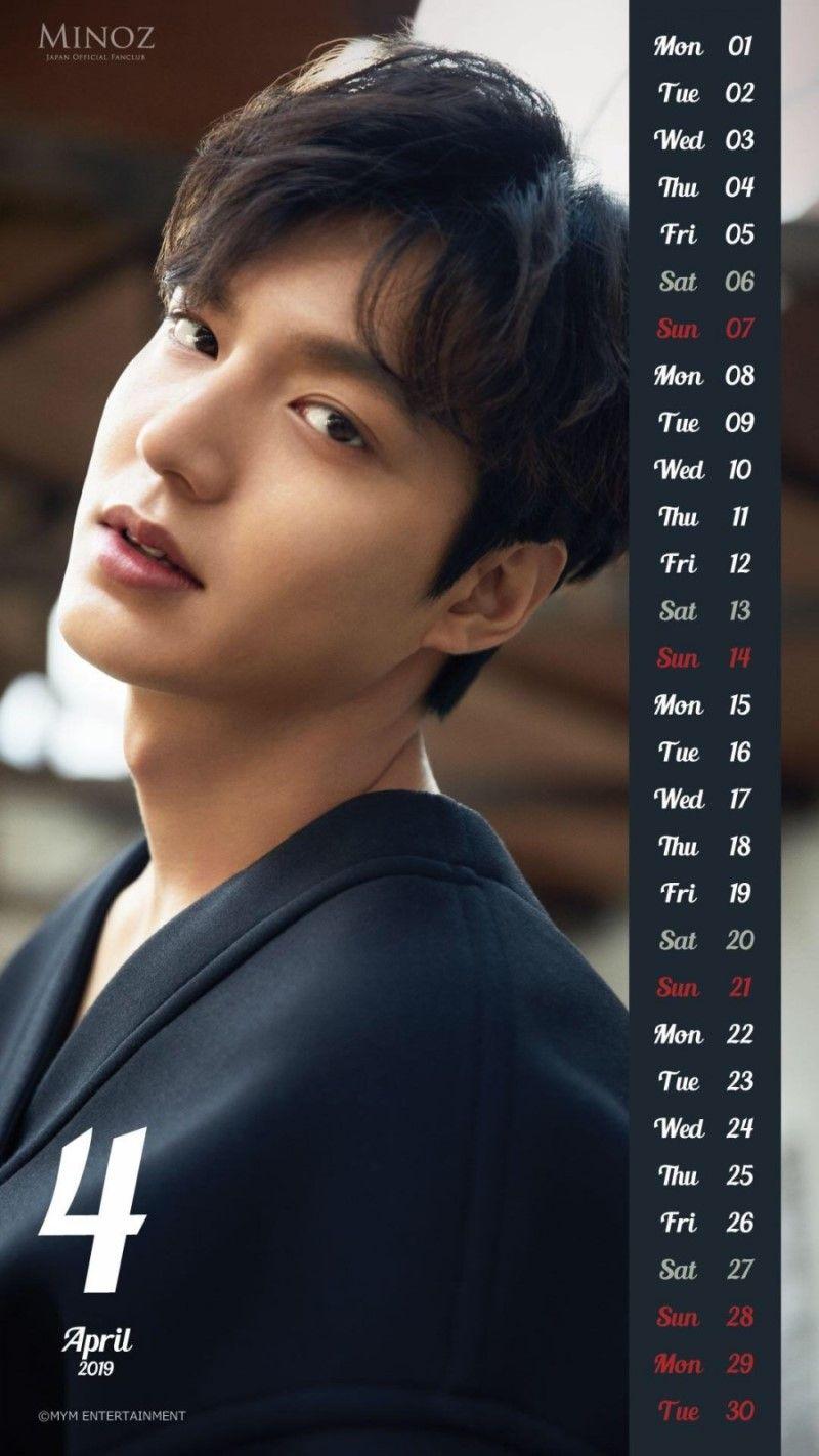 Calendario 2019 Attrici.Lee Min Ho April 2019 Calendar Lee Min Ho In