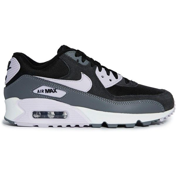 Nike Air Max 90 Essential Black Trainers (320 BRL) ❤ liked