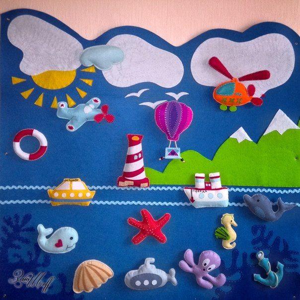 Развивающие игрушки, украшения Handmade из фетр | ВКонтакте