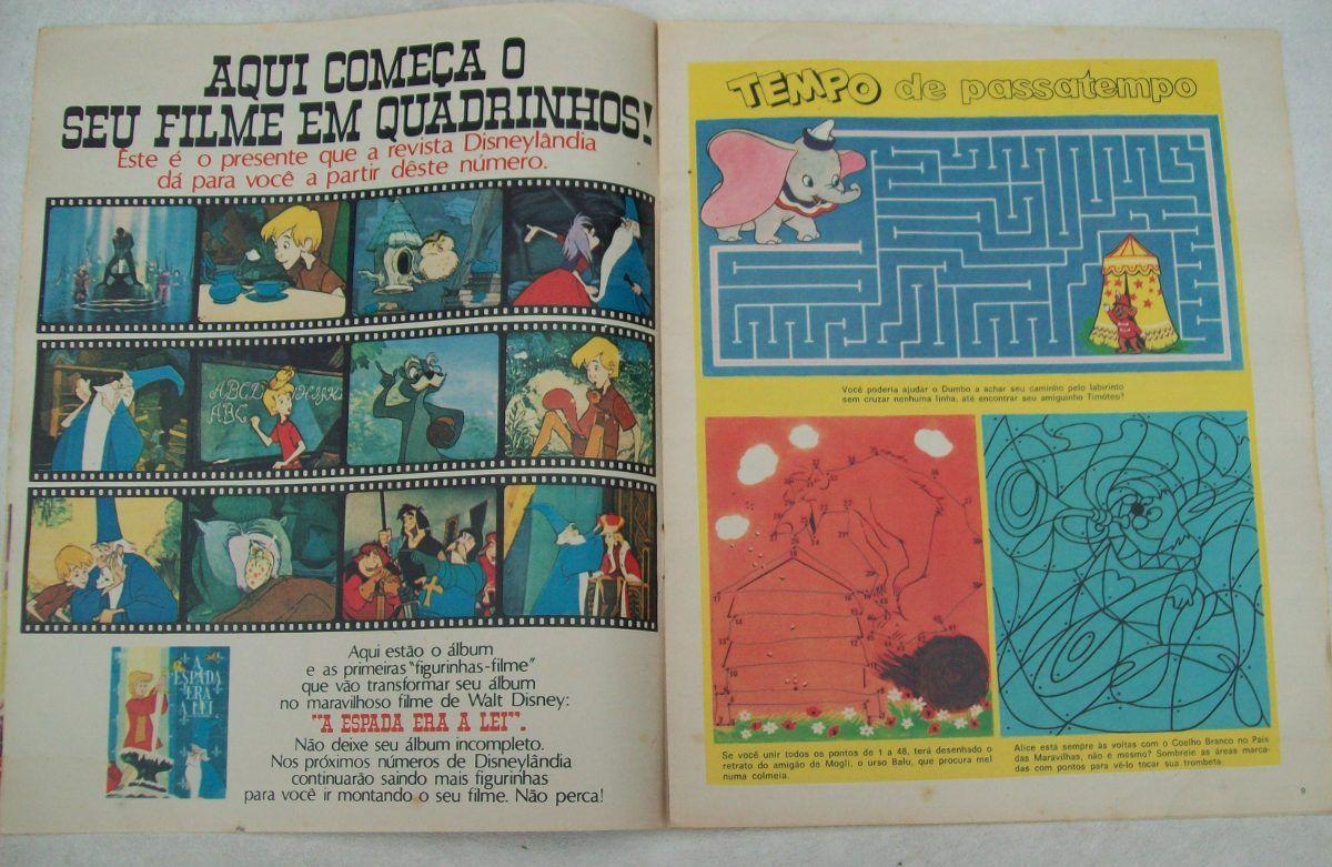 Revista Disneylândia Nº 16: Dumbo - Alice - Mogli - 1972 - R$ 75,00 no MercadoLivre