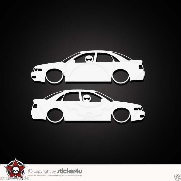 (844) 2x low and slow Audi A4 B5 Sticker Aufkleber VAG Turbo quattro s line RS4