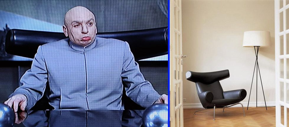 Dr Evil Chair Ghost Ikea Ox Designs Pinterest Brick Marble Bricks
