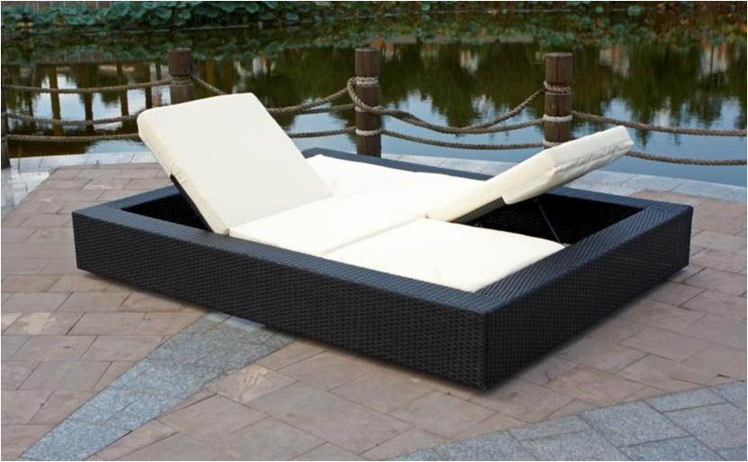 Rattan Garden Furniture Rattan Double Lounger For Garden Or