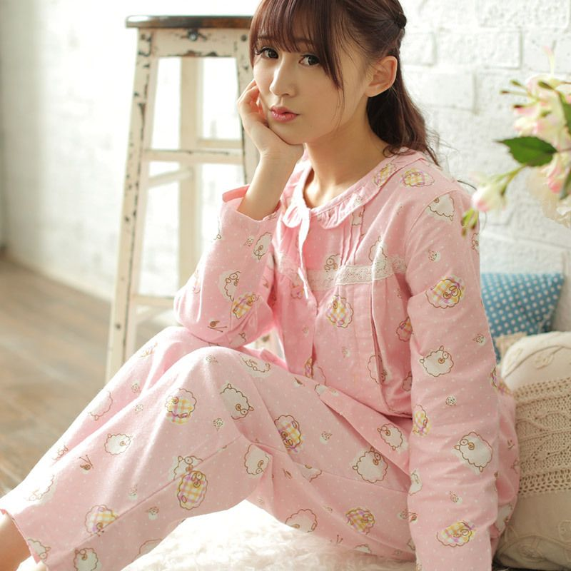 ec956b4d6e Cheap 100 Algodón Lactancia Pijamas Para El Embarazo Las Mujeres  Embarazadas Pijamas Traje de Manga Larga
