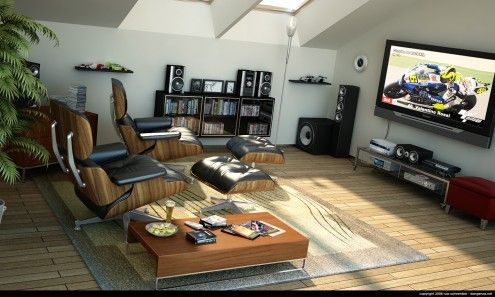 Home entertainment spaces