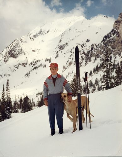Lt With A Great Dane During A Skiing Trip In Utah Ski Trip