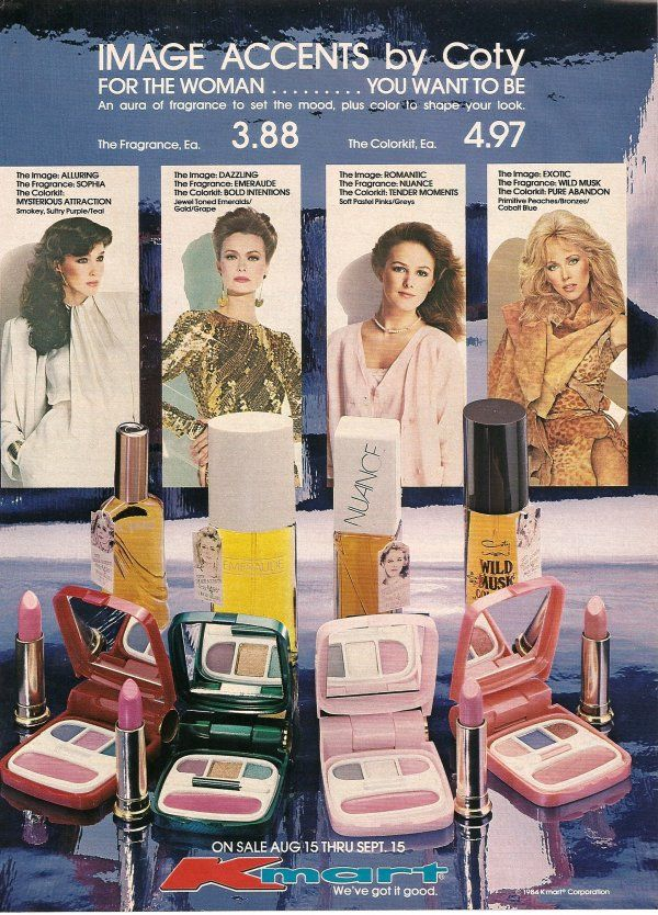 1984 coty ad remembering the 80s vintage makeup ads