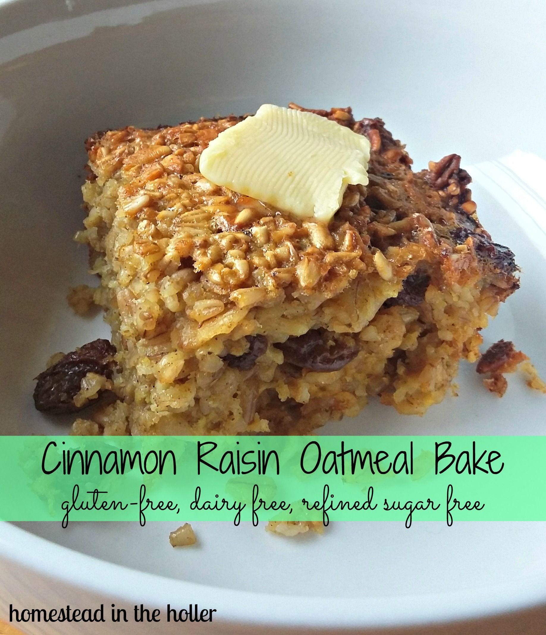 Cinnamon raisin oatmeal bake recipe baked oatmeal