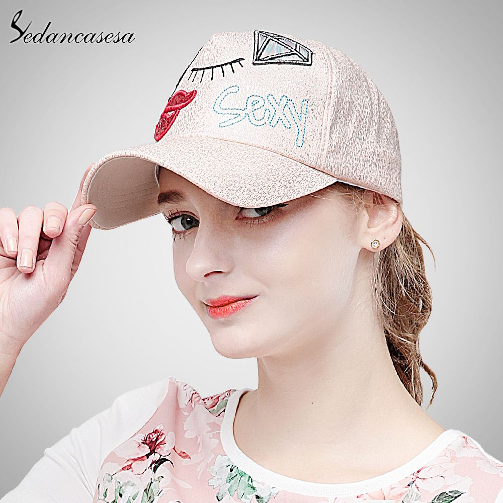 ef463760618 cute new fashion Baseball Cap women Hats for girls Trucker cap Sports  snapback for women sun protect cap WG160061