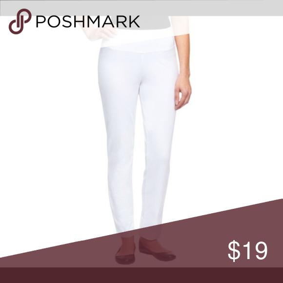 e08b73a66a6de Women w/Control Petite Slim Leg Ankle - White Women w/Control Petite Slim  Leg Ankle Type: Pants Size: Petite Large Season: Spring/Summer Colors:  White ...