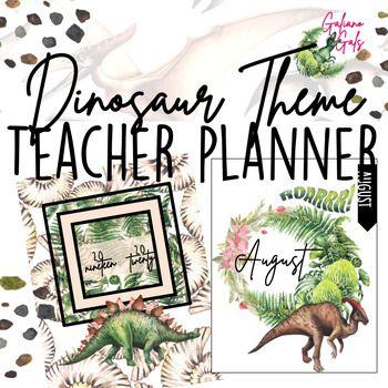 Teacher Planner - 2019-2020 Dinosaur Theme #teacherplannerfree