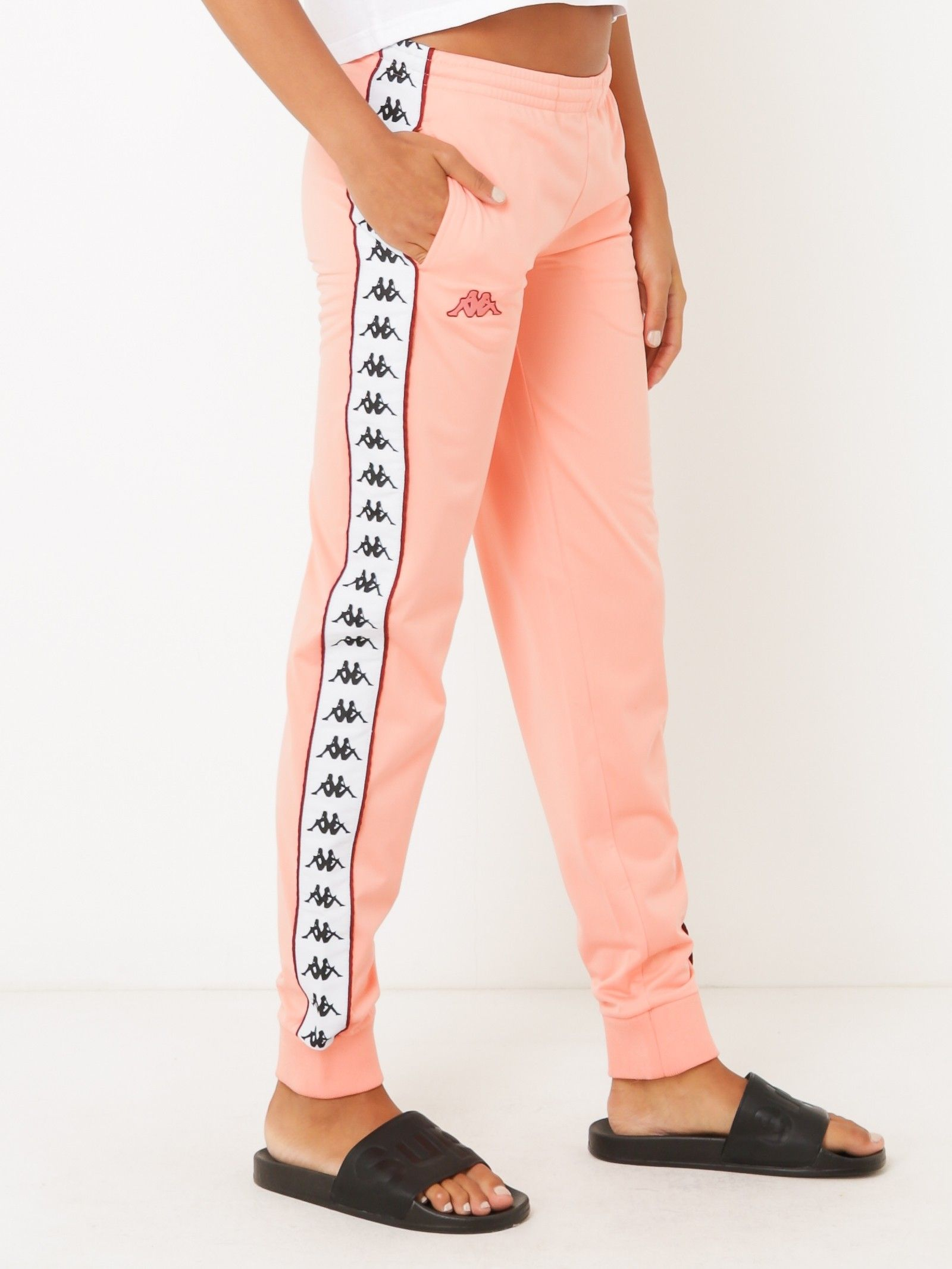 8a8fbb1b602fa4 222 Banda Astoria Slim Track Pants in Pink