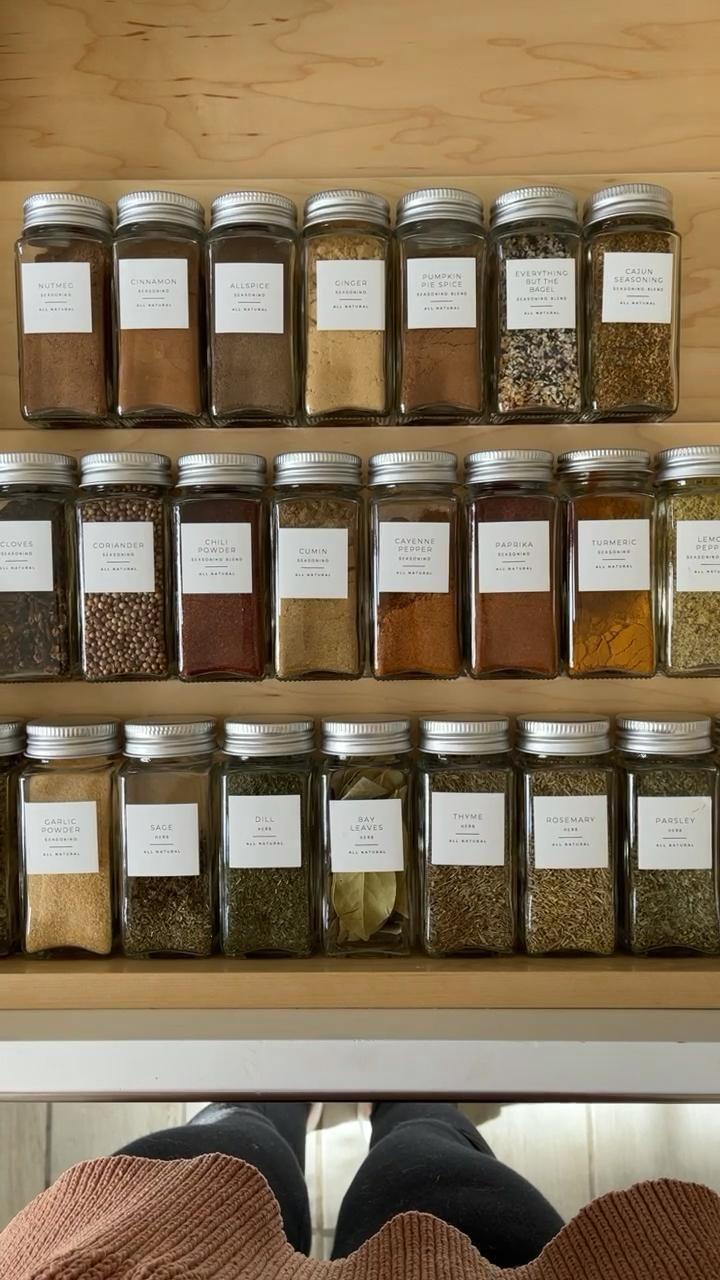 spice drawer / kitchen organization