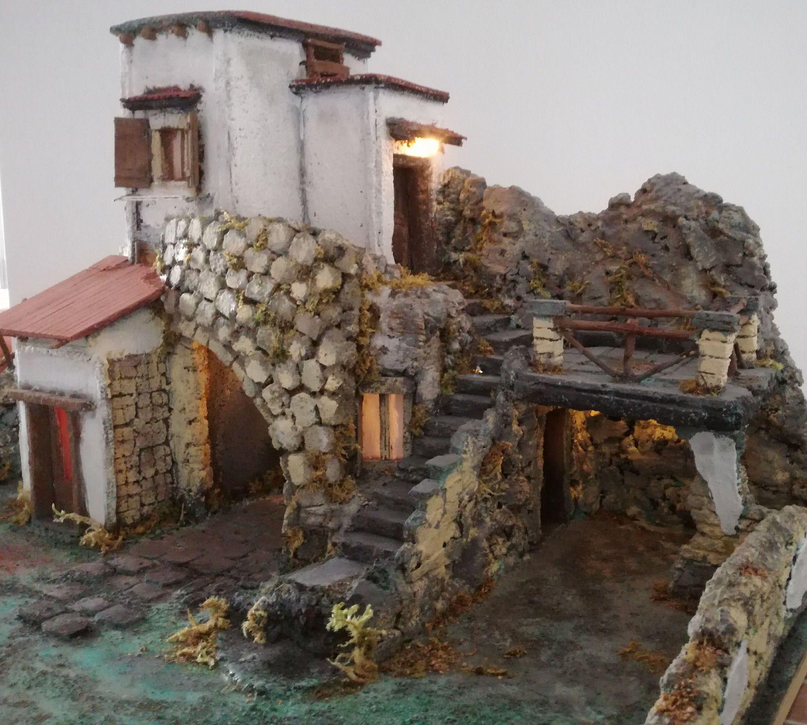 Presepe presepio napoletano artigianale di san gregorio armeno arte e antiquariato arte sacra - Presepi fatti in casa ...