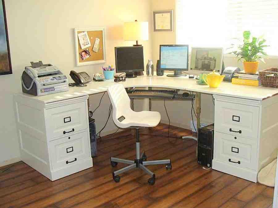 Office Furniture L Shaped Desk With Images Diy Desk Plans