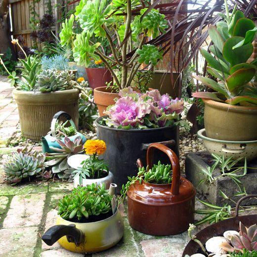 Repurposed-planter-GENIUS IDEA-- NEED TO CHECK THRIFT