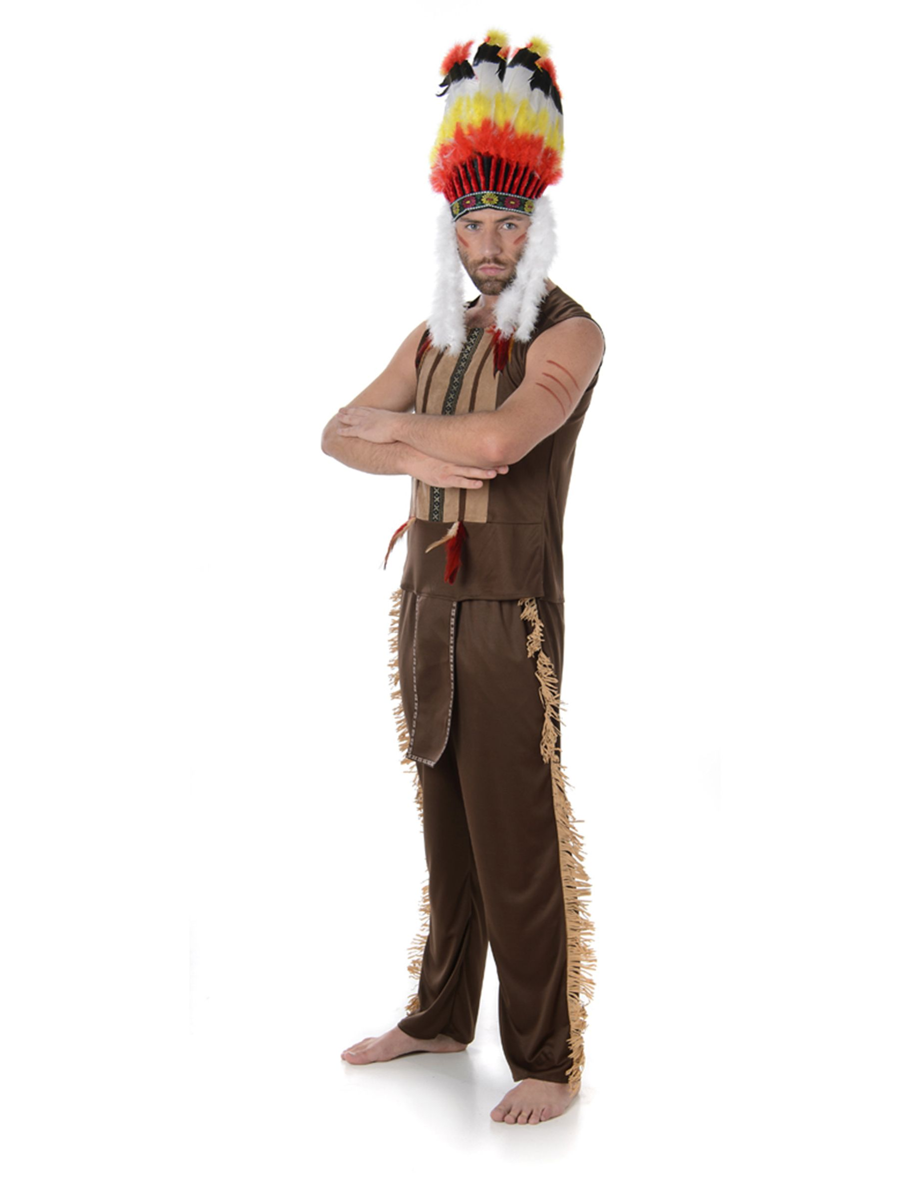 Disfraz de jefe indio hombre  cbc838e07d6