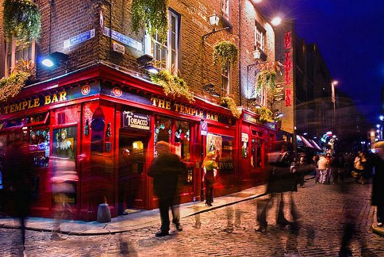 Ireland, Dublin, Temple Bar By Night - eStock
