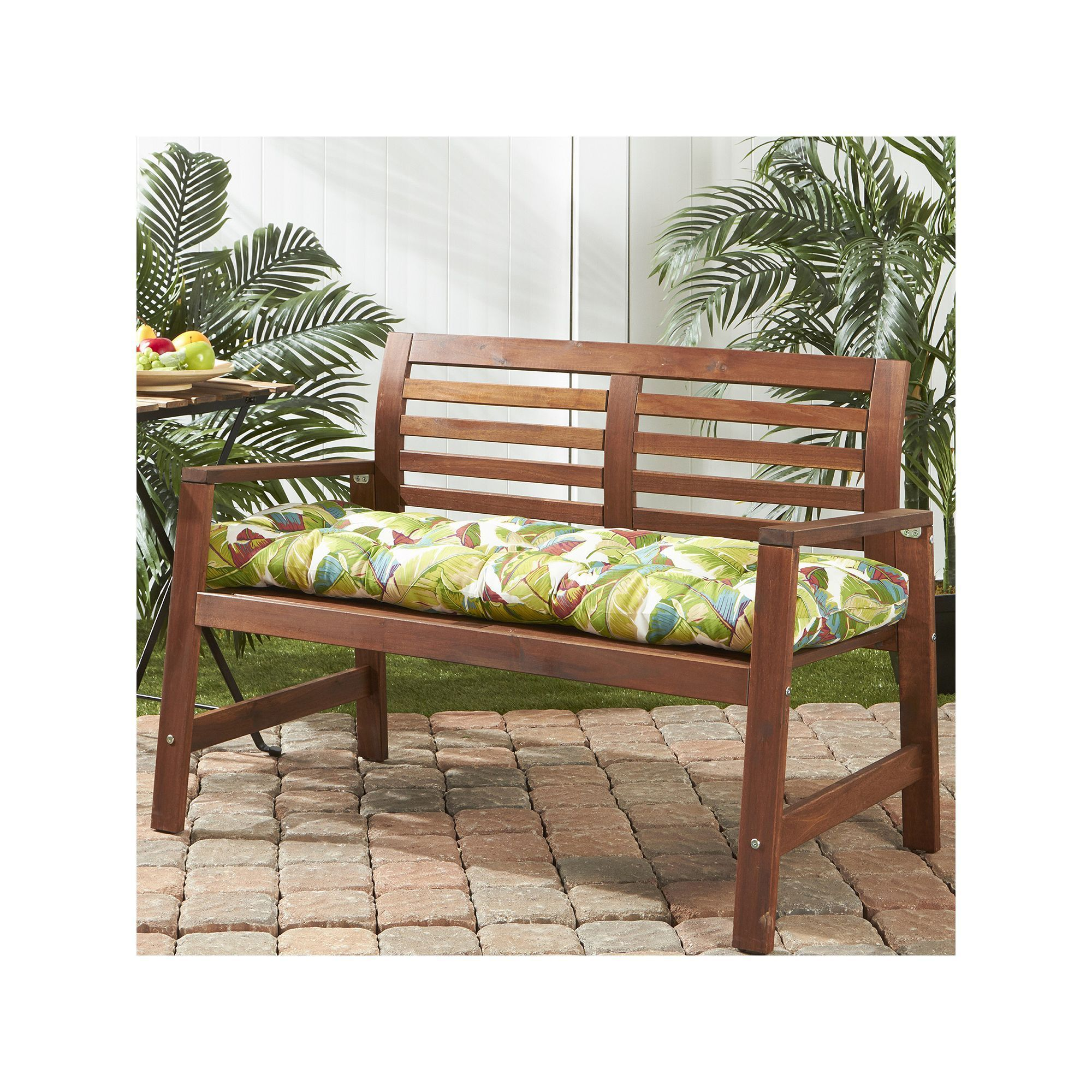 Greendale Home Fashions Outdoor Bench Cushion Multicolor With Images Patio Seat Cushions Porch Swing Bench Cushions
