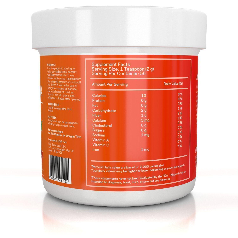 MAJU™ Organic Ashwagandha Root Powder Pure products