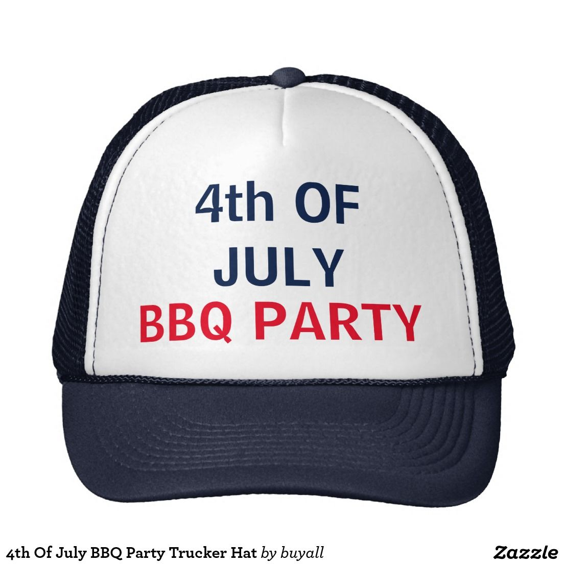 4th Of July BBQ Party Trucker Hat