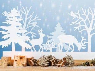 Im Winterwald Wohnidee Fensterbilder Weihnachten Basteln Fensterbilder Weihnachten Scherenschnitt Weihnachten