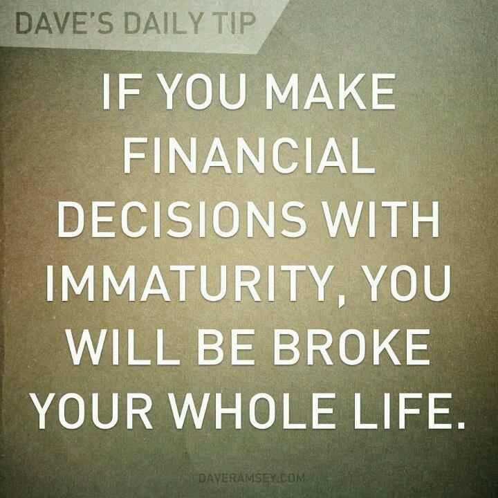 Dave Ramsey is unreal he taught us so much about money i