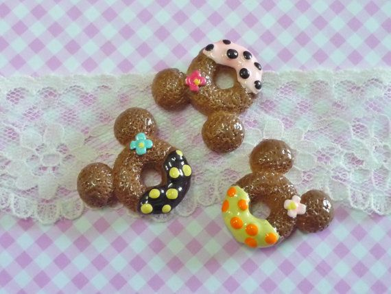 3 pcs/6pcs Mouse Doughnuts with Cream and Flower by forestdiy