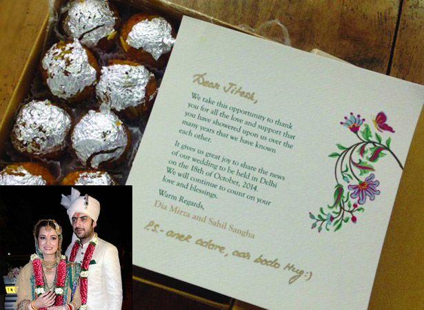 Most Interesting Wedding Invites Of Bollywood Celebrity S Bollywoodshaadis