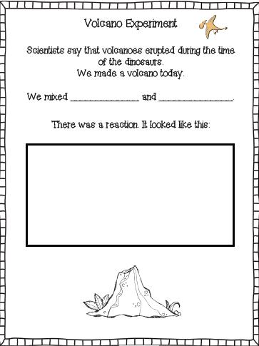 Volcano Experiment - Reactions | K/1 science class | Volcano ...