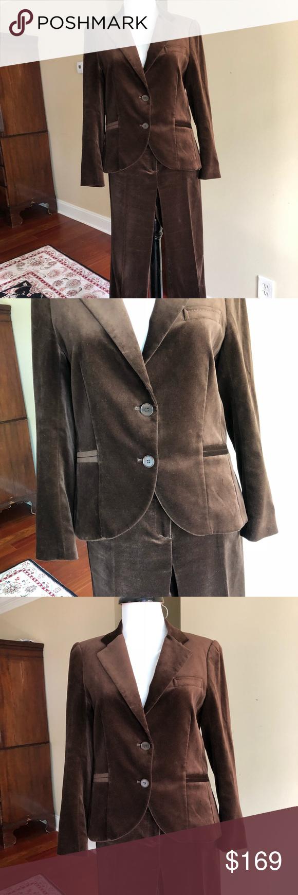 Brown Velour Pant Suit