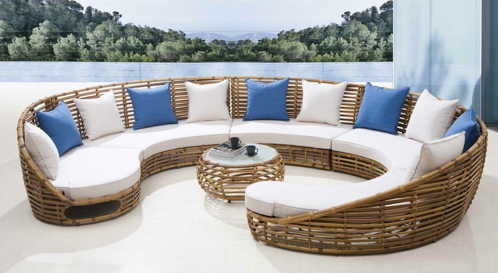 Furniture Accessories Cool Round Sofa Design And Antique Curved Sectional Sofa Outdoor Wicker Furniture Modern Patio Furniture Contemporary Outdoor Furniture
