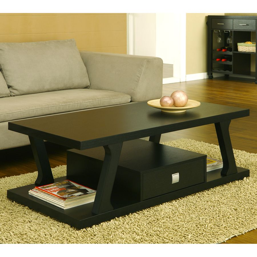 Enitial Lab Borealis Black Coffee Table Lowes Com Coffee Table Coffee Table With Drawers Traditional Coffee Table [ 900 x 900 Pixel ]