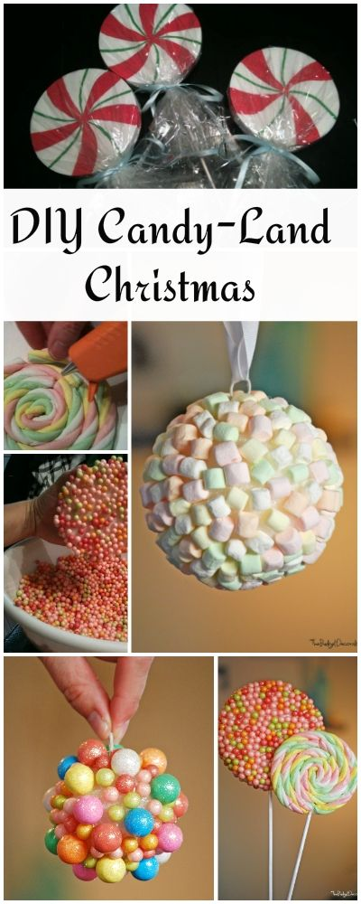 Diy Candyland Christmas Decorations Ornaments The Budget Decorator Candy Land Christmas Candy Christmas Tree Christmas Decorations Ornaments