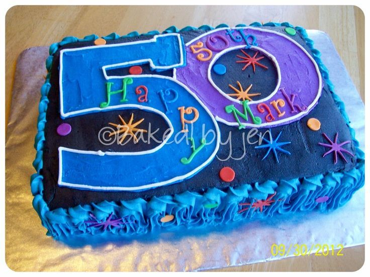 A Picture Perfect 50th Birthday Cake Idea That Is A Good Choice For