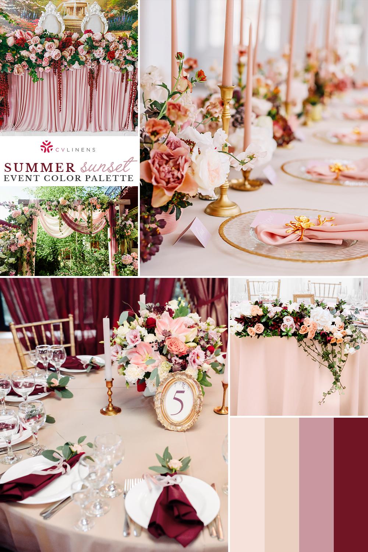 Pin On 07 16 21 Gold And Burgundy Wedding Rose Gold Wedding Decor Wedding Color Schemes Summer
